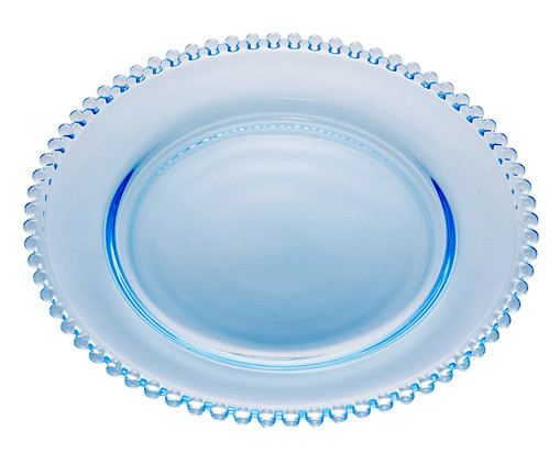 Prato Raso em Cristal Pearl - Azul, Azul   WestwingNow