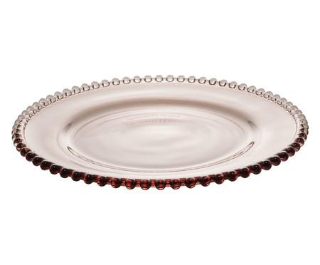 Prato Raso em Cristal Pearl - Fumê | WestwingNow