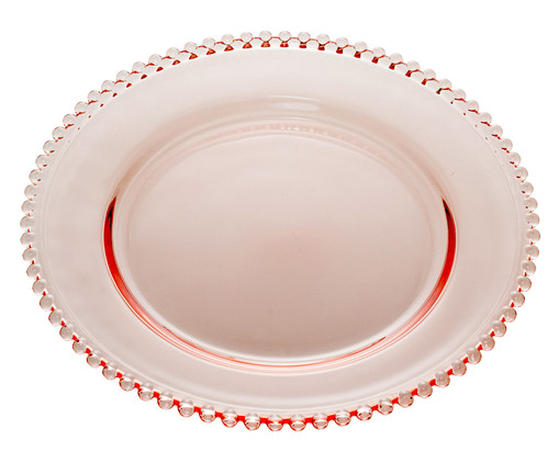 Prato Raso em Cristal Pearl - Rosa, Rosa | WestwingNow