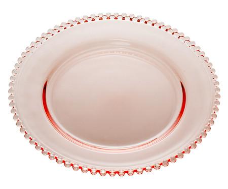 Prato Raso em Cristal Pearl - Rosa | WestwingNow