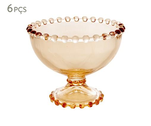 Jogo de Taças para Sobremesa em Cristal Pearl - Âmbar, Âmbar | WestwingNow