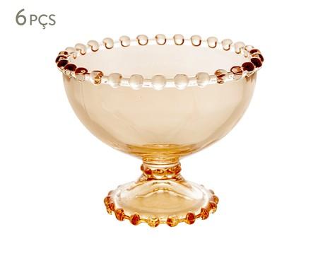 Jogo de Taças para Sobremesa em Cristal Pearl - Âmbar   WestwingNow