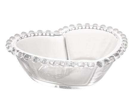 Bowl Coração em Cristal Pearl - Transparente | WestwingNow