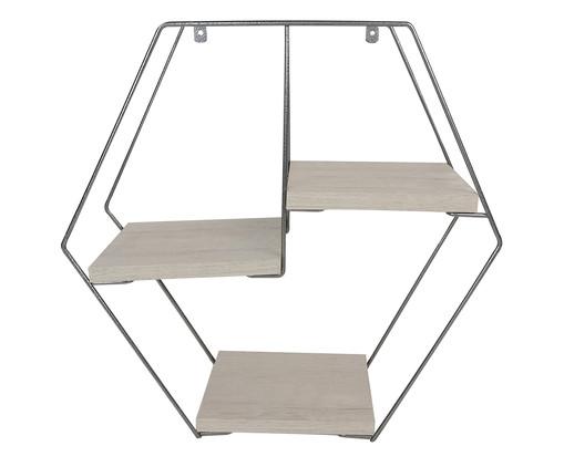 Prateleira Geométrica Jess - Cromo, Prata / Metálico, Natural | WestwingNow