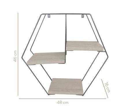 Prateleira Geométrica Jess - Cromo | WestwingNow