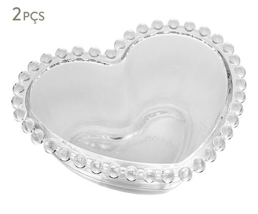 Jogo de Bowls Coração em Cristal Pearl - Transparente, Transparente | WestwingNow