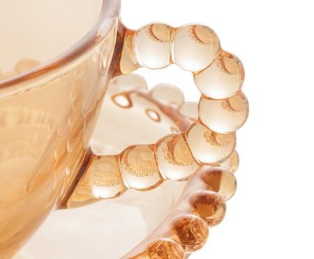 Jogo de Xícaras para Chá em Cristal Pearl - Âmbar | WestwingNow