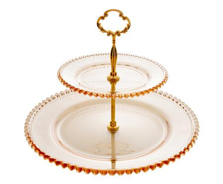 Prato Para Doces em Cristal Pearl - Âmbar | WestwingNow