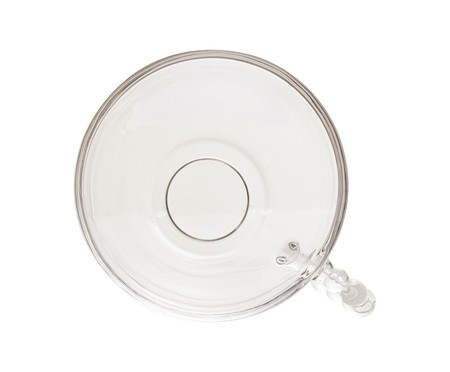 Xícara e Pires para Chá em Cristal Pearl - Transparente | WestwingNow