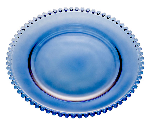 Prato Raso em Cristal Pearl - Azul Escuro, Azul | WestwingNow