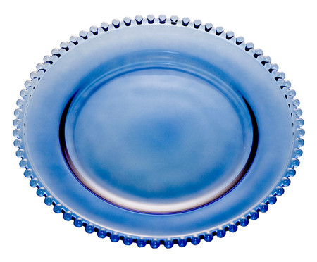 Prato Raso em Cristal Pearl - Azul Escuro | WestwingNow