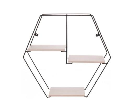 Prateleira Geométrica Jess - Legno Crema, Preto, Natural | WestwingNow