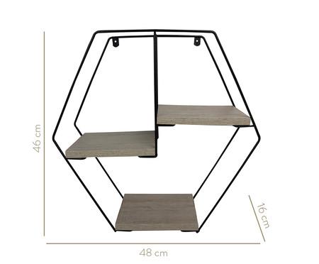 Prateleira Geométrica Jess - Legno Crema | WestwingNow