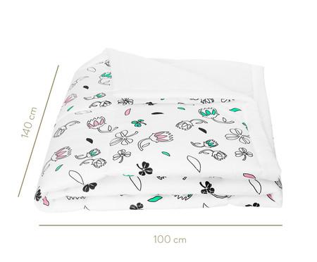 Edredom Flores Preto, Rosa E Verde - 200 fios | WestwingNow