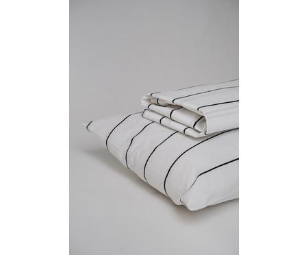 Jogo de Lençol Listras Preto E Branco - 200 fios | WestwingNow