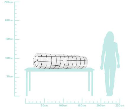 Protetor para Berço Rolinho Grid Preto E Branco - 130 x 12 cm   WestwingNow