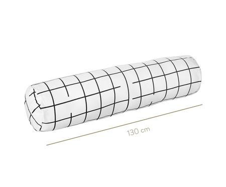 Protetor para Berço Rolinho Grid Preto E Branco - 130 x 12 cm | WestwingNow