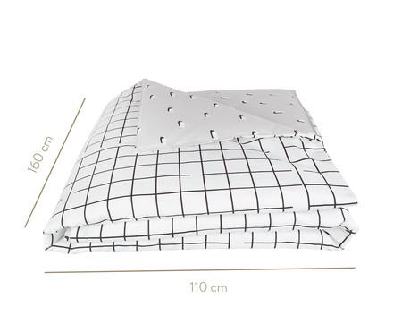 Capa de Edredom Pontinhos Cinza E Branco - 200 fios | WestwingNow