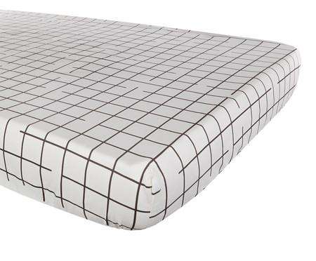 Jogo de Lençol Grid Preto E Branco - 200 fios | WestwingNow
