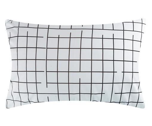 Jogo de Lençol Grid Preto E Branco - 200 fios, PRETO E BRANCO | WestwingNow