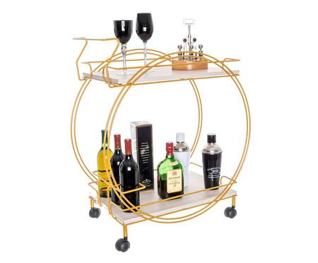 Carrinho de Bar Odaléia - Dourado e Legno Crema | WestwingNow