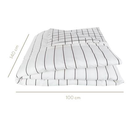 Edredom Listras Preto E Branco - 200 fios | WestwingNow