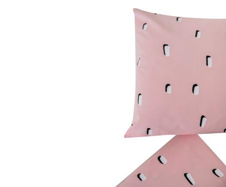 Jogo de Lençol Pontinhos Rosa E Branco - 200 fios | WestwingNow