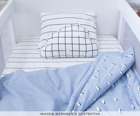 Edredom Pontinhos Azul - 200 fios | WestwingNow