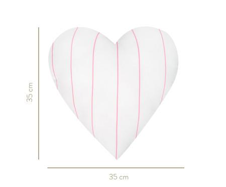 Almofada Coração Listras - Rosa | WestwingNow