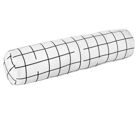 Protetor para Berço Rolinho  Grid Preto E Branco - 46 x 12 cm | WestwingNow