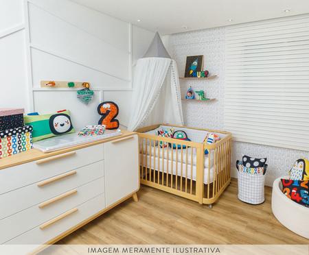 Saco de Brinquedos Grande Patnos - Branco | WestwingNow