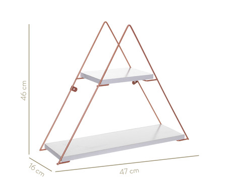 Prateleira Geo Triangle - Branca e Acobreada | WestwingNow