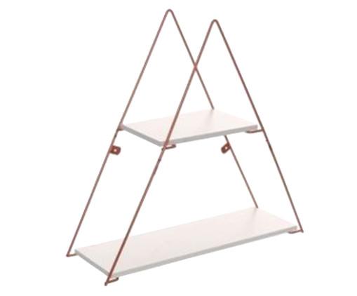 Prateleira Geo Triangle - Branca e Acobreada, Branco, Cobre | WestwingNow