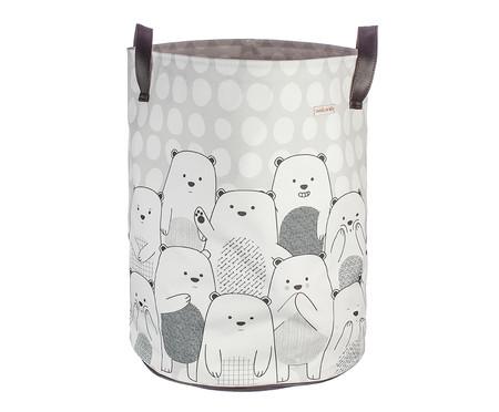 Saco de Brinquedos Grande Ursos Pb - Branco | WestwingNow