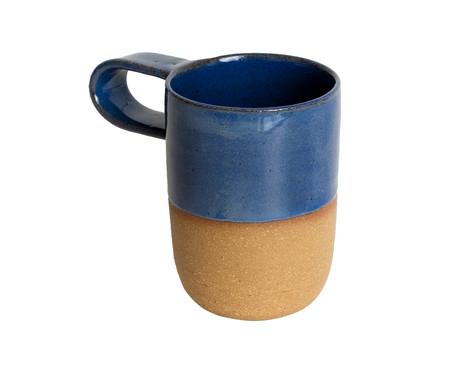 Jogo de Xícaras e Pires para Café em Argila Cone - Branco e Azul | WestwingNow