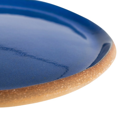 Jogo de Prato Orgânico Principal + Prato Orgânico Sobremesa - Azul Grego | WestwingNow