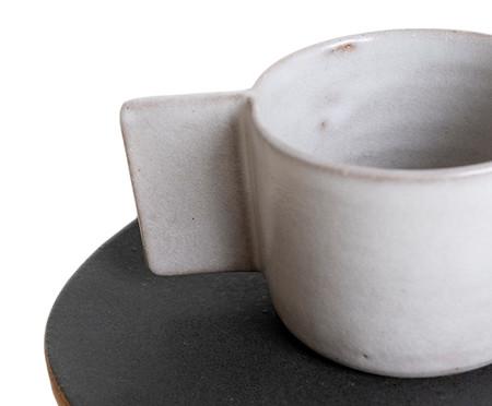 Jogo de Xícaras e Pires para Café em Argila Palito Branco e Rosa - 04 Pessoas | WestwingNow