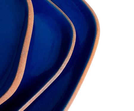 Trio para Servir Inspiração Burle Marx - Azul Grego | WestwingNow