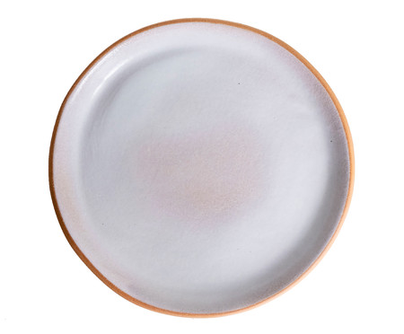 Jogo de Prato Orgânico Principal + Prato Orgânico Sobremesa - Branco | WestwingNow