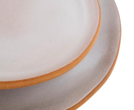Jogo de Prato Orgânico Raso e Sobremesa - Branco | WestwingNow