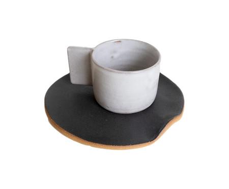 Jogo de Xícaras e Pires para Café em Argila Palito - Branco | WestwingNow