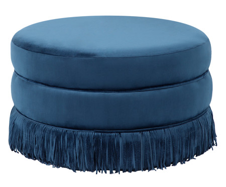 Puff Franja Disco - Azul | WestwingNow