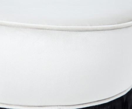 Puff Franja Composta - Off White e Preto | WestwingNow
