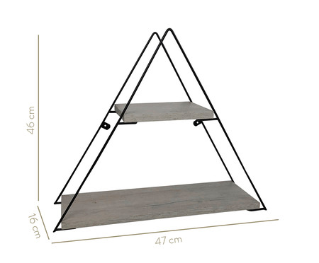 Prateleira Geo Triangle - Preta e Legno Crema | WestwingNow