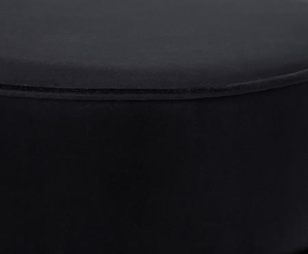 Puff Franja Composta - Preto | WestwingNow