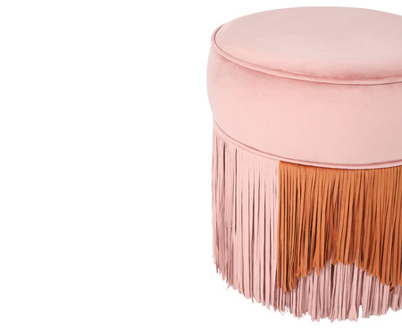Puff Franja Composta - Rosa e Canela | WestwingNow