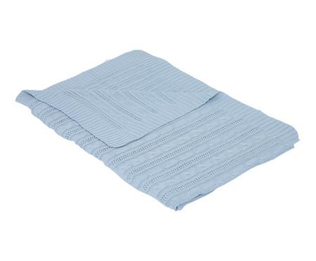 Jogo de Berço Tricot Azul - 5 Peças | WestwingNow