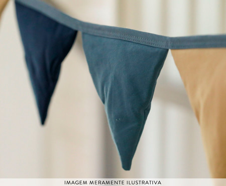 Bandeirinha Milla - Azul Petróleo | WestwingNow