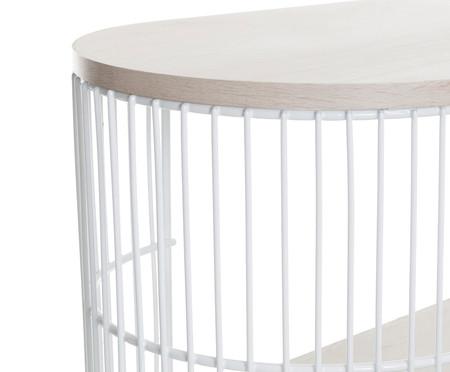Mini Rack Retangular Deco - Branco e Legno Crema | WestwingNow