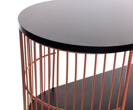 Mini Rack Retangular Deco -  Acobreado e Preto | WestwingNow